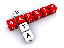 Data and safety  Stock Image