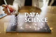 Data Science, analysis. Internet and technology concept concept, banner and infographic on virtual screen. Data Science, analysis. Internet and technology royalty free stock photography