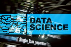 Data Science Artificial Intelligence Concept. Futuristic Supercomputer background.  royalty free stock photo