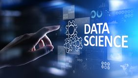 Data science and deep learning. Artificial intelligence, Analysis. Internet and modern technology concept. Data science and deep learning. Artificial royalty free stock photos
