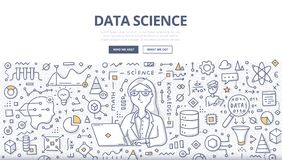 Data Science Doodle Concept royalty free illustration