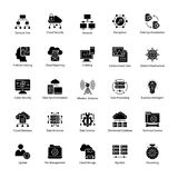 Data Science Vector Icons. This Data Science Vector Icon set contains processes and systems to extract knowledge or insights from data in various forms areas Royalty Free Stock Photo