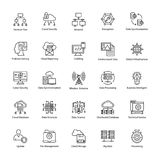 Data Science Vector Icons. This Data Science Vector Icon set contains processes and systems to extract knowledge or insights from data in various forms areas Stock Image