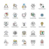 Data Science Vector Icons. This Data Science Vector Icon set contains processes and systems to extract knowledge or insights from data in various forms areas Royalty Free Stock Image