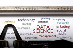 Data science word cloud stock images