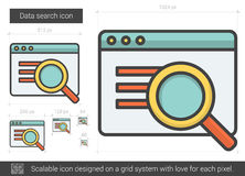 Data search line icon. Stock Images