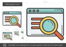 Data search line icon. Stock Image