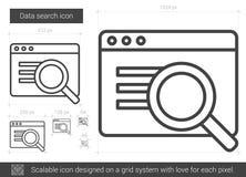 Data search line icon. Stock Photo