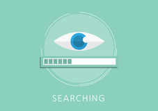 Data searching concept flat icon Royalty Free Stock Photos