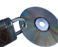 Data security. Copy protection, disc with closed stock image