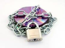 Data security. Padlock protecting digital data, security concept Stock Photography