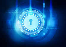 Data security abstract blue background Royalty Free Stock Image