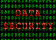 Data Security in Binary Green and Red Royalty Free Stock Image