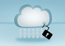 Data security breach in cloud computing Royalty Free Stock Images