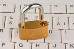 Data security for computers. Padlock Royalty Free Stock Photos
