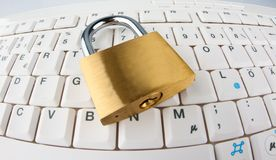 Data security for computers. Padlock Royalty Free Stock Image