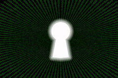Data security concept binary background Royalty Free Stock Images