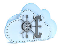 Data security concept in cloud computing.  Stock Photography