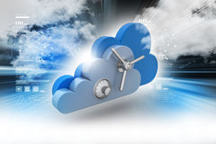 Data security concept in cloud computing Stock Photos