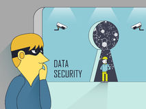 Data security concept Royalty Free Stock Image