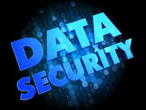 Data Security on Dark Digital Background. Stock Image