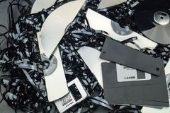 Data security - data destruction. DSGVO Data protection, security and destruction Stock Photo