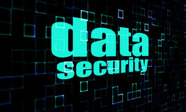 Data security on digital screen Stock Image