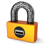 Data security. Digital Usb lock (Hi-Res) Royalty Free Stock Image