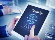 Data Security Global Technology Homepage Concept Stock Photo