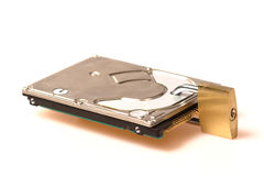 Data security: Hard disk with padlock Stock Photos