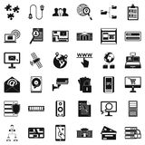 Data security icons set, simple style. Data security icons set. Simple style of 36 data security vector icons for web isolated on white background Stock Images