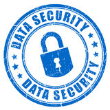 Data security. Imprint on white background royalty free illustration