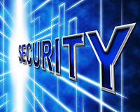 Data Security Indicates Restricted Password And Information Royalty Free Stock Photos