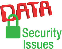 Data security issues secure lock Stock Photography