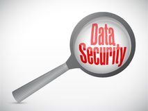 Data security magnify glass illustration Royalty Free Stock Image
