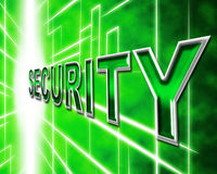 Data Security Means Knowledge Protected And Login Royalty Free Stock Photography