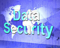 Data Security Means Protect Encrypt And Fact Royalty Free Stock Image