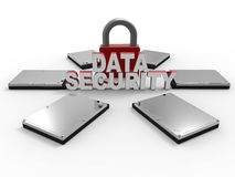 Data security padlock concept Royalty Free Stock Image