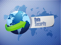 Data security paper sign illustration Stock Photo