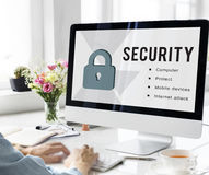Data Security Privacy Protect Concept. Data Security Privacy Protect Technology Royalty Free Stock Photography