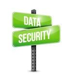 Data security road sign illustration design vector illustration