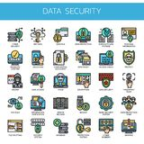 Data Security ,  Pixel Perfect Icons Stock Image