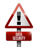 Data security warning sign illustration Stock Image