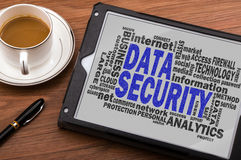 Data security word cloud Stock Photo