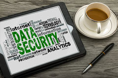 Data security word cloud Stock Photography