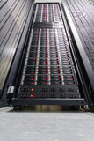 Data server in big rack Stock Photo