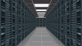 Data server center - view with camera zoom