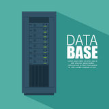 Data server computer storage with shadow icon. Illustration eps 10 Stock Photos