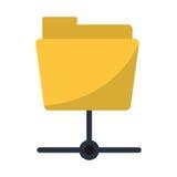 Data server folder security system technology. Vector illustration eps 10 Royalty Free Stock Photos