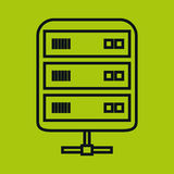 Data server  icon Royalty Free Stock Image